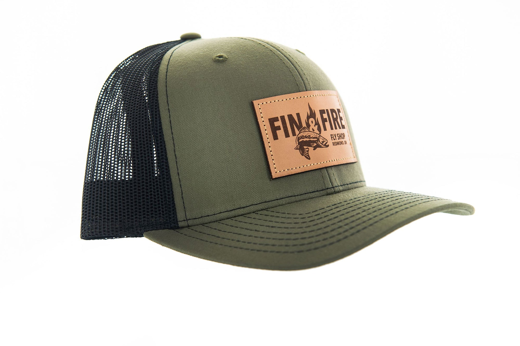 Fin & Fire Logo Hat: Loden/Black