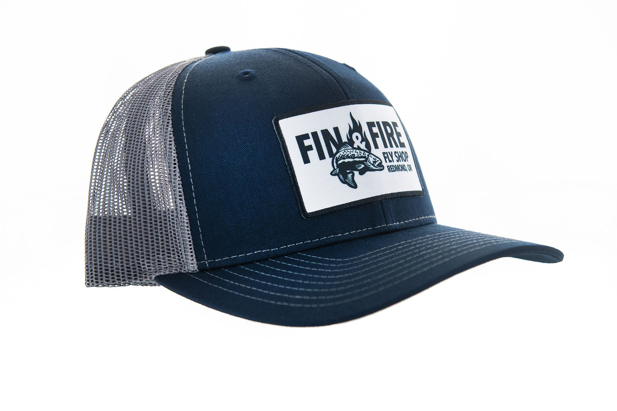 Fin & Fire Logo Hat: Navy/Charcoal