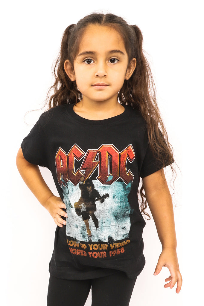 Kid's AC/DC T-Shirt - Blow Up Your Video - Black (Boys and Girls)