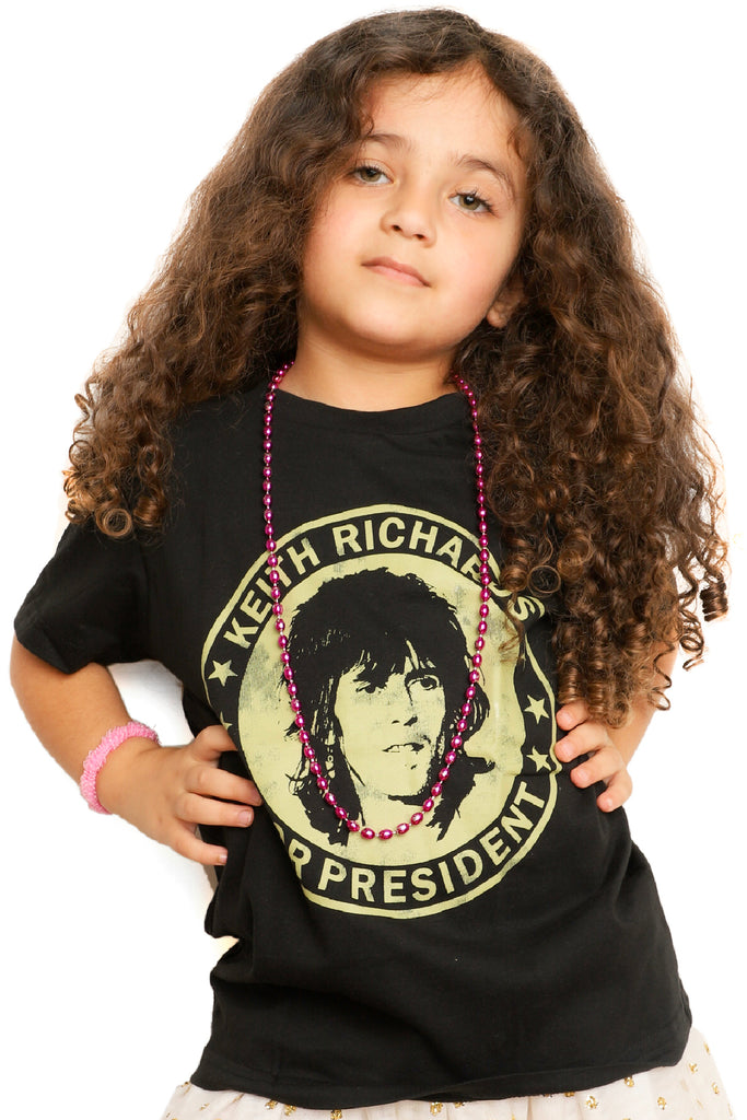 Kid's Keith Richards T-Shirt - Black (Boys and Girls)