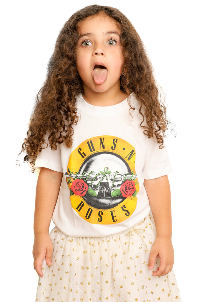 Kid's Guns 'N' Roses T-Shirt - Logo - White (Boys and Girls)