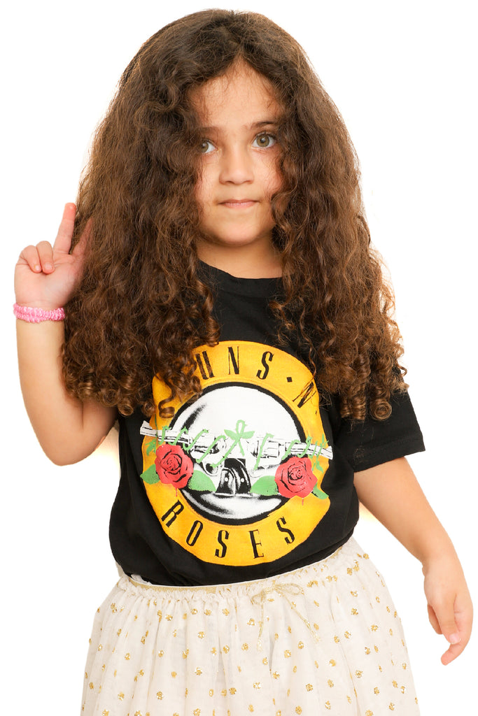 Kid's Guns' N Roses T-Shirt - Crest - Black (Boys and Girls)