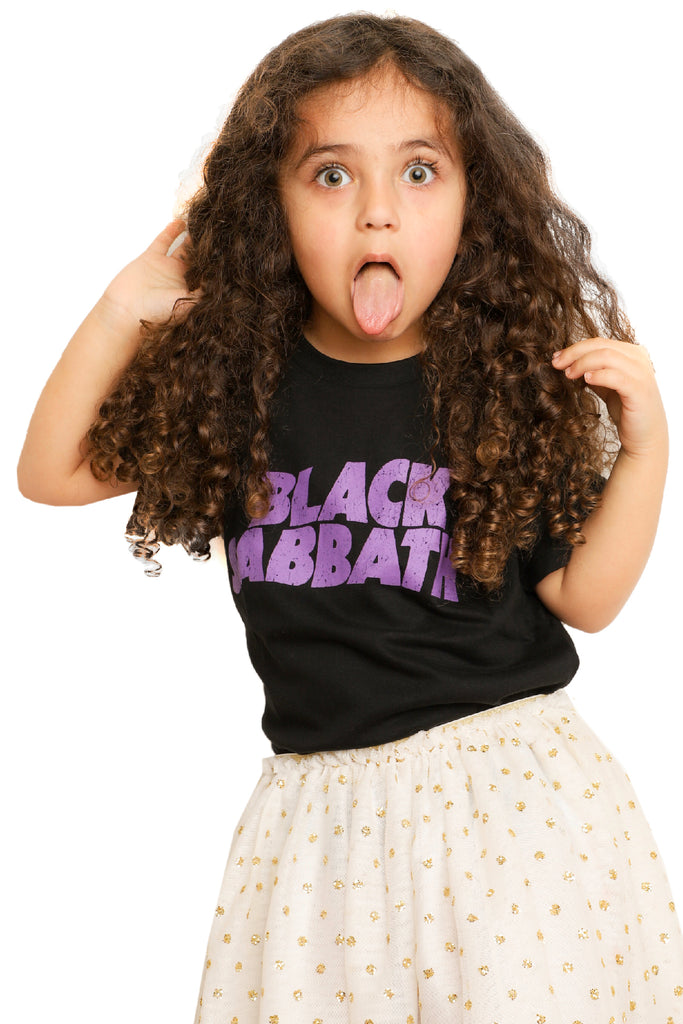 Kid's Black Sabbath T-Shirt -  Black (Boys and Girls)