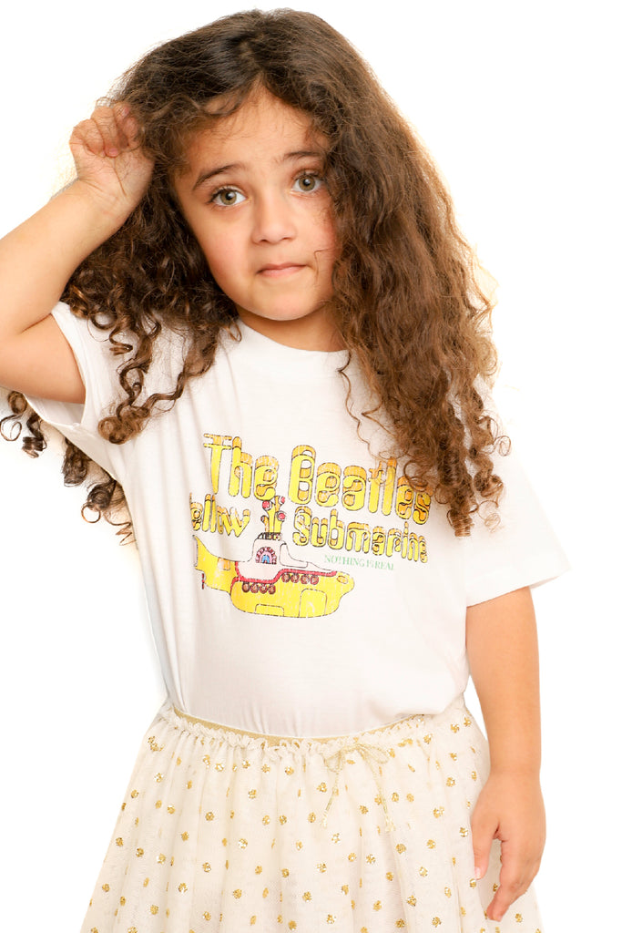 Kid's The Beatles T-Shirt - Yellow Submarine - White (Boys and Girls)