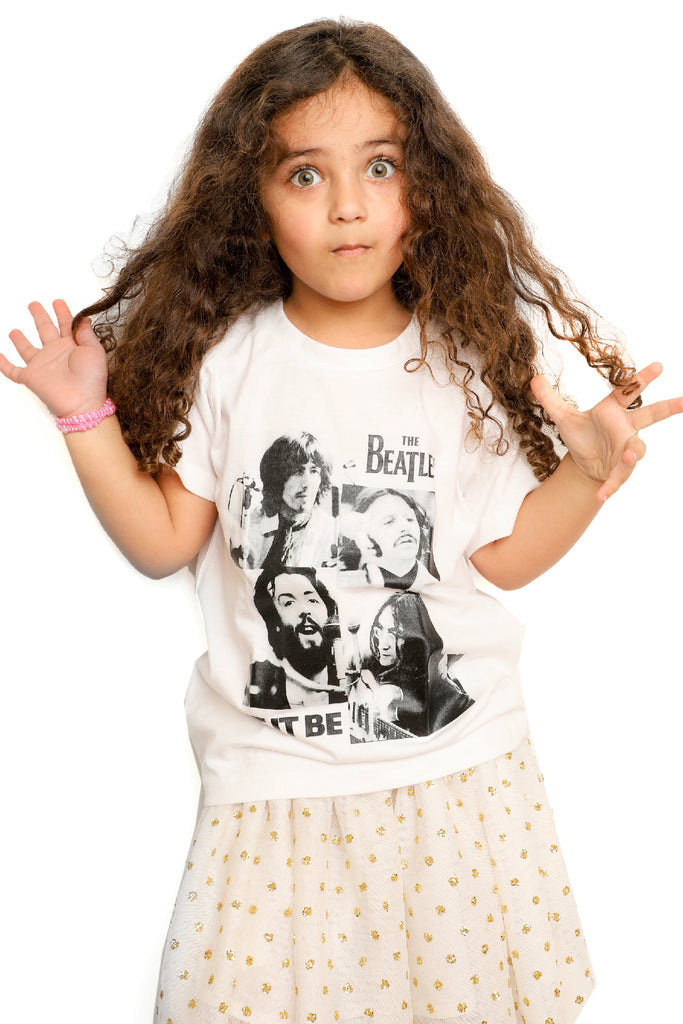 Kid's The Beatles T-Shirt - Let It Be - White (Boys and Girls)