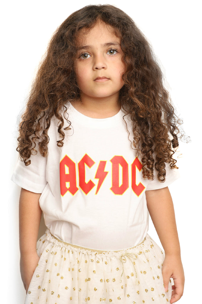 Kid's AC DC T-Shirt - White (Boys and Girls)