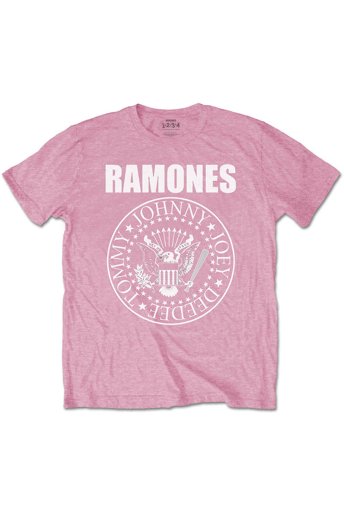 Kid's Ramones T-Shirt - Logo - Pink (Boys and Girls)