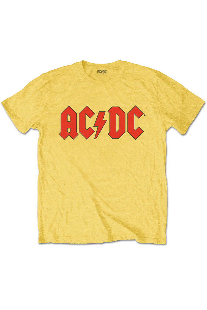 Kid's AC DC T-Shirt - Yellow (Boys and Girls)