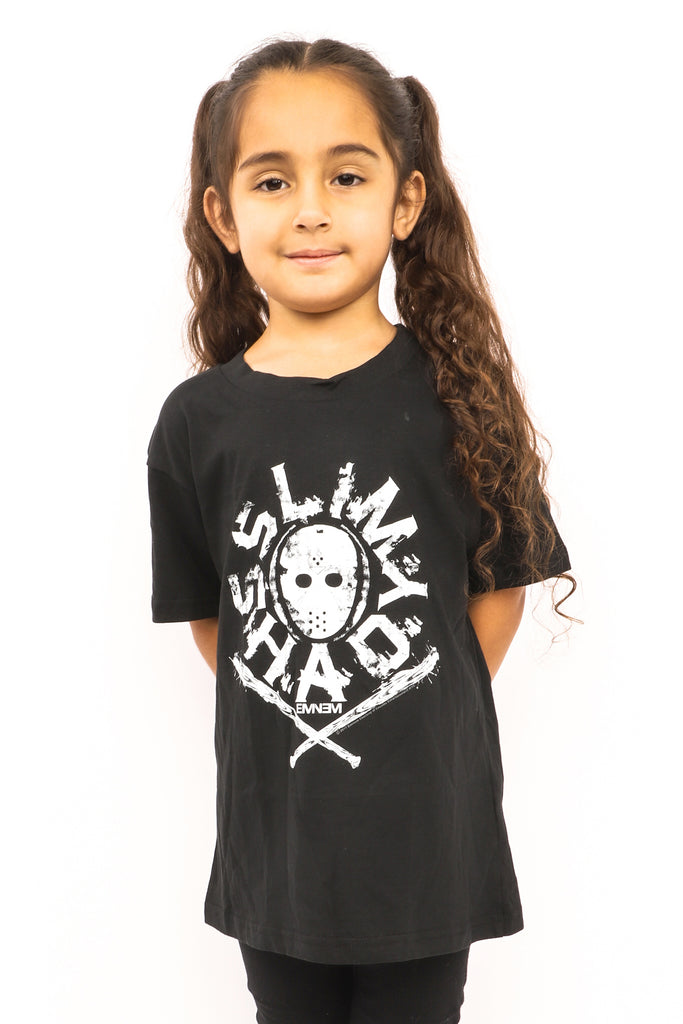 Kid's Silm Shady T-Shirt - Black (Boys and Girls)