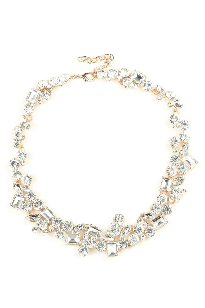 Rowan Necklace - White Crystal