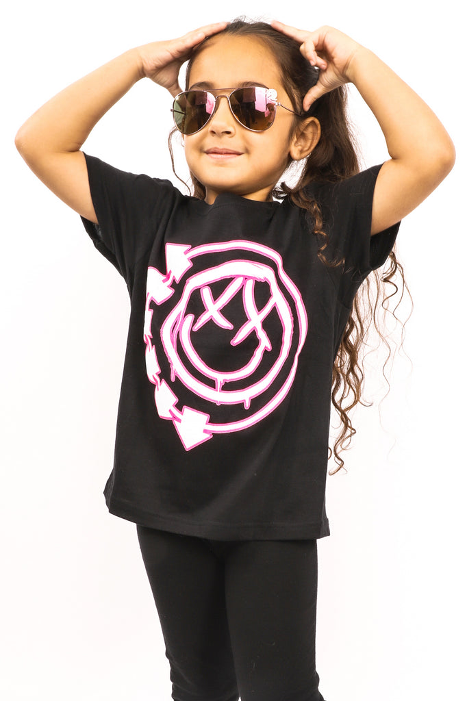 Kid's Blink 182 T-Shirt - Logo - Black (Boys and Girls)