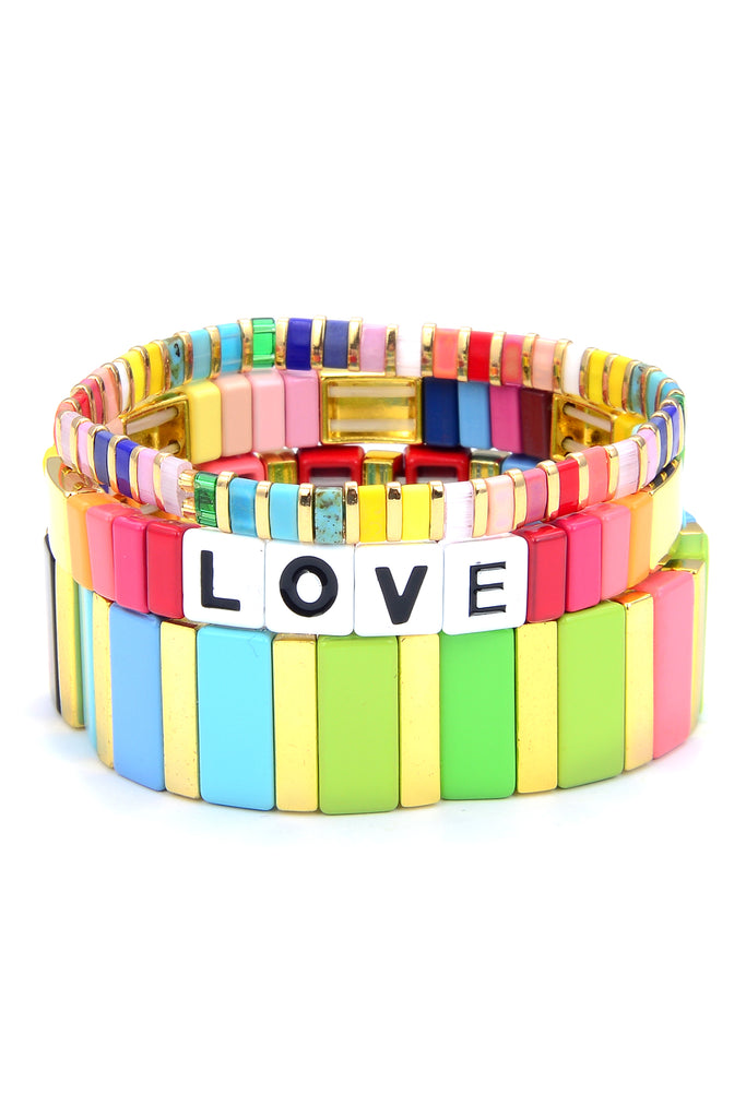 Rainbow LOVE Bracelet Set