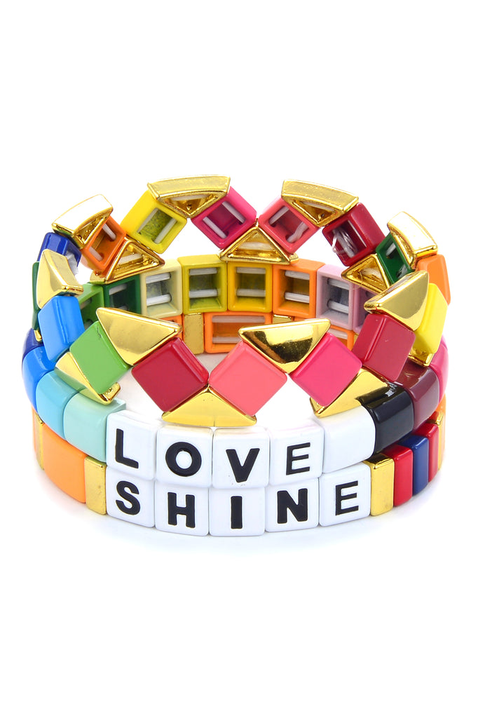 Love And Shine Stack Bracelet