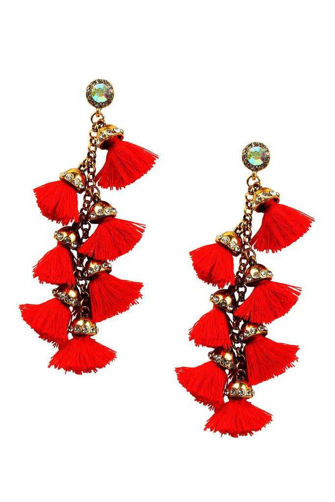 Barcelona Earrings - Red