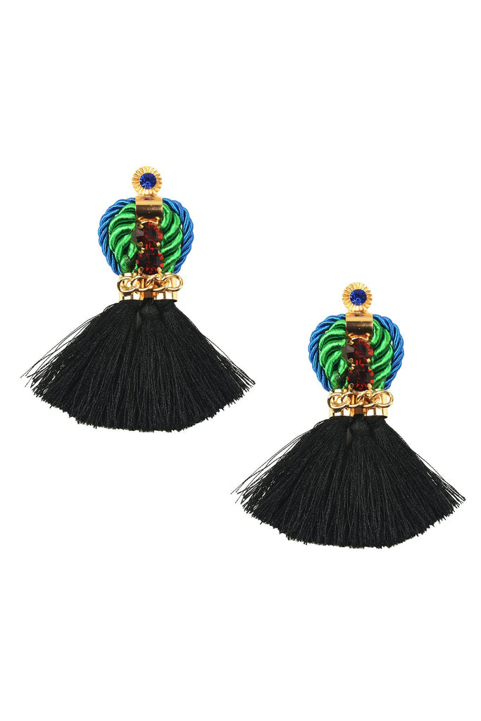 Izabel Earrings - Black