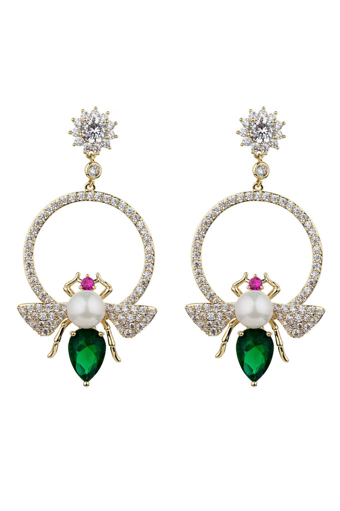 Abeille Earrings - Green