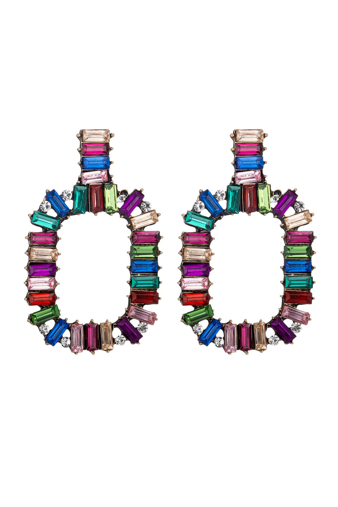 Zahara Rainbow Multicolor Statement Earrings