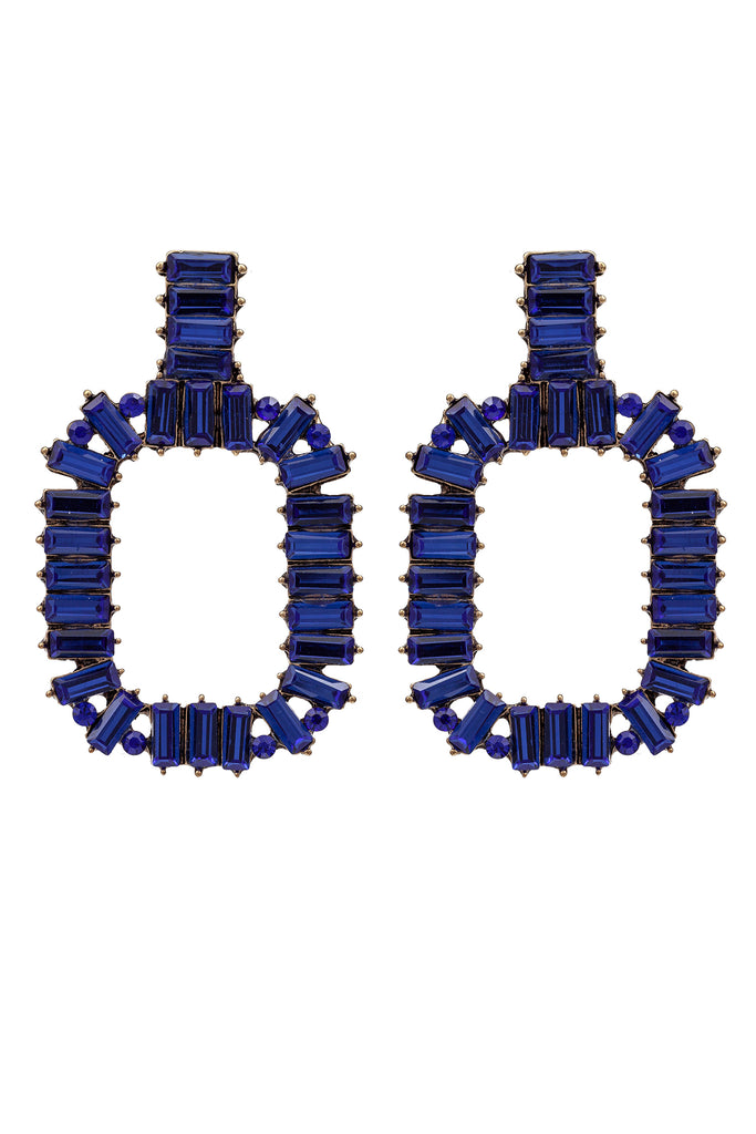 Zahara Blue Statement Earrings