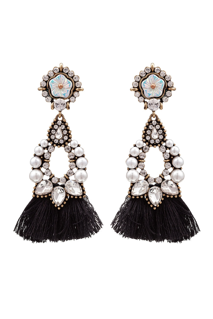Sakira Earrings - Black