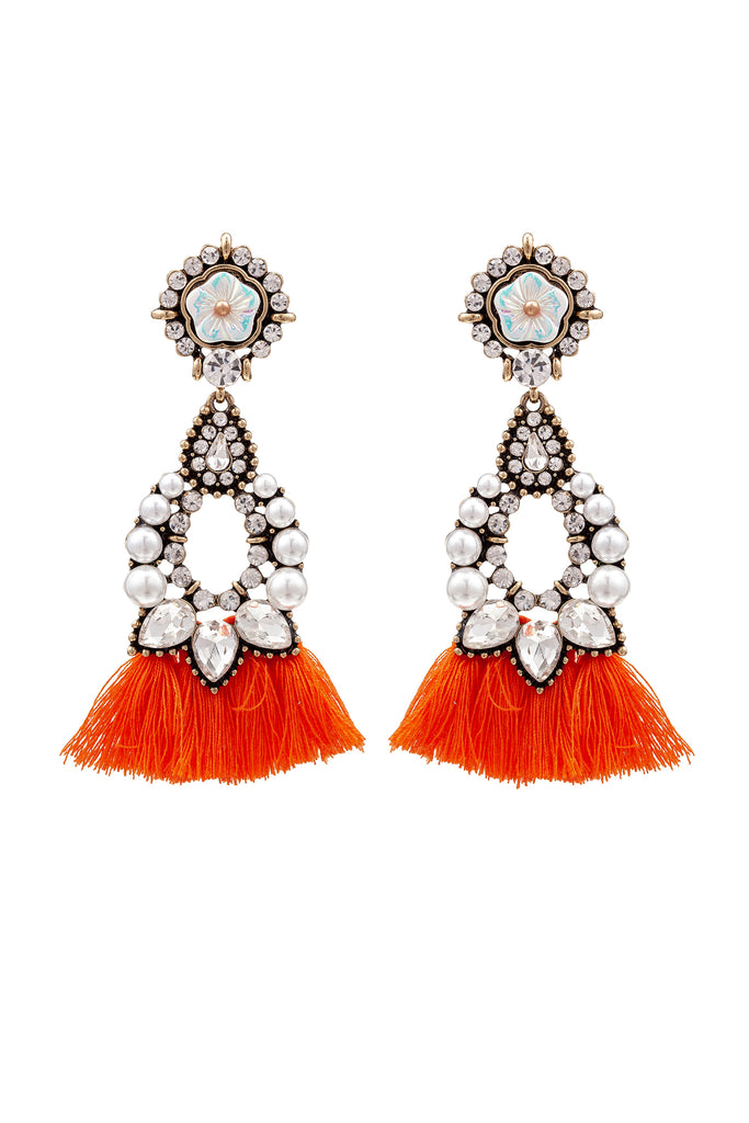 Sakira Earrings - Orange