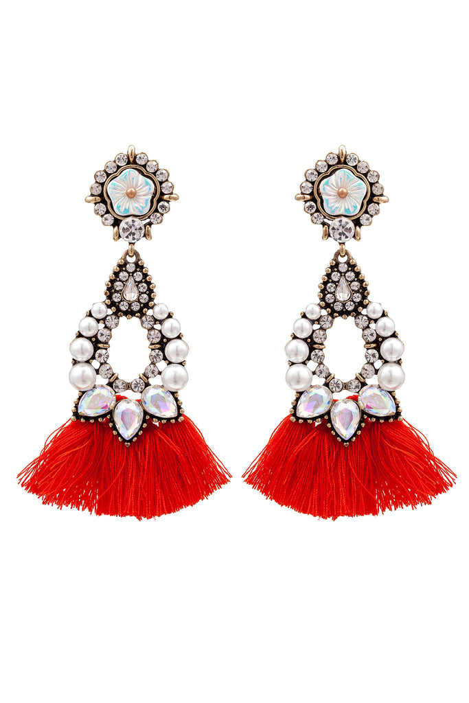 Sakira Earrings - Red