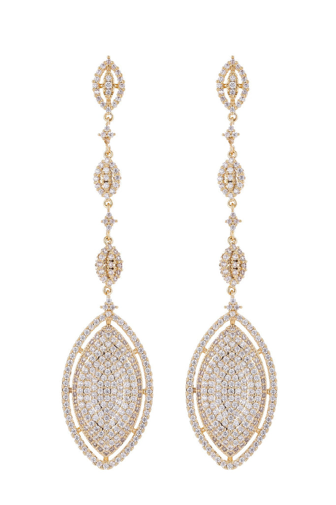 Bree Gold Plated Cubic Zirconia Earrings