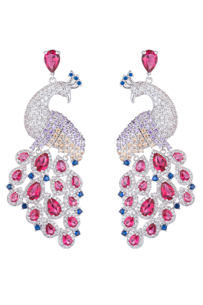 Patricia Peacock Earring - Pink