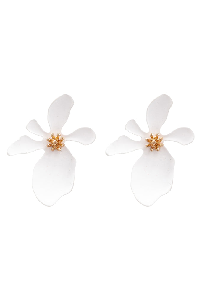 Georgia Earrings - White