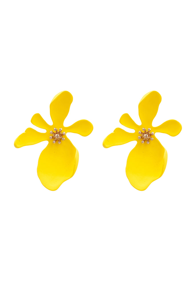 Georgia Earrings - Yellow