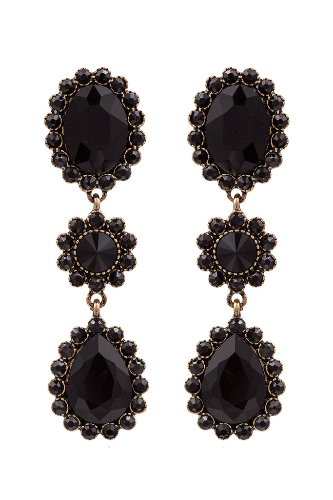 Alanza Earrings - Black