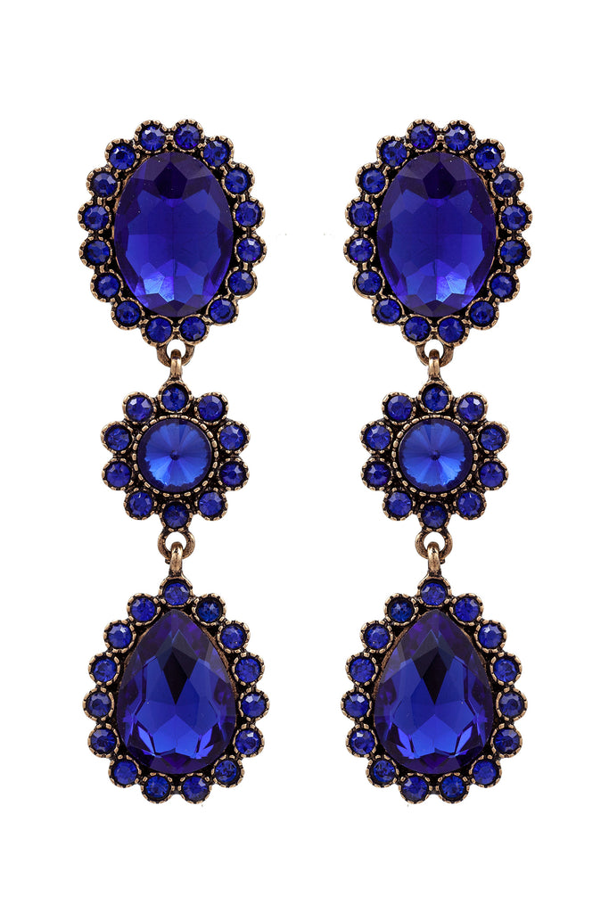 Alanza Earrings - Blue