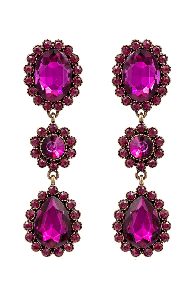 Alanza Earrings - Pink