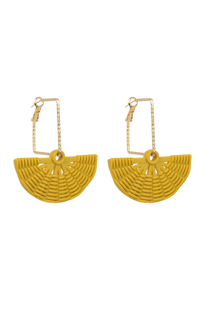 Cynthia Fan Earrings - Yellow