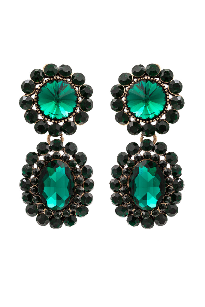 Aline Earrings - Green