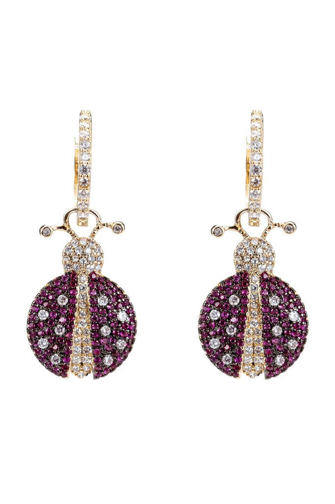 Adalia Ladybug Cubic Zirconia Earrings