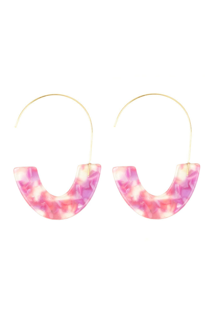 Camilla Earrings - Fuschia