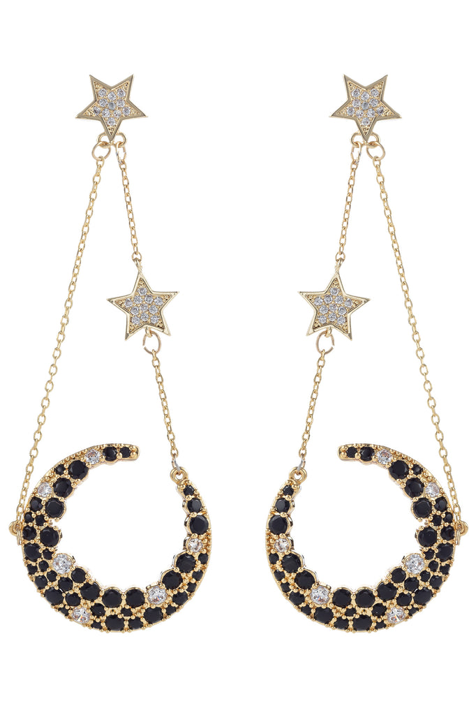 Nevaeh Earrings - Black/Gold