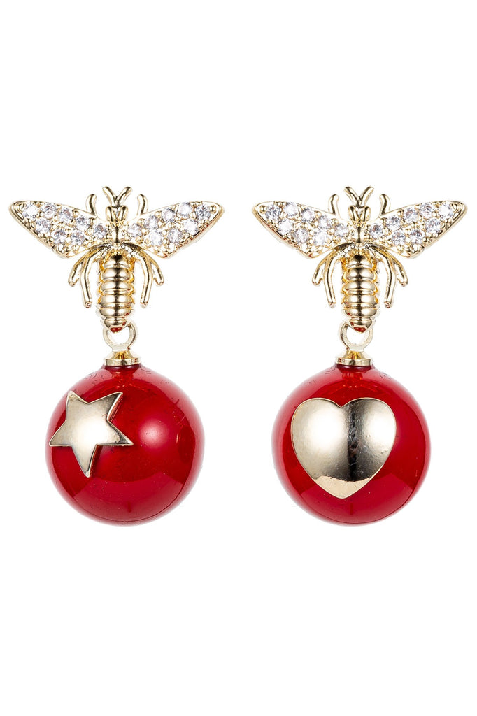 Voar CZ Bee Earrings