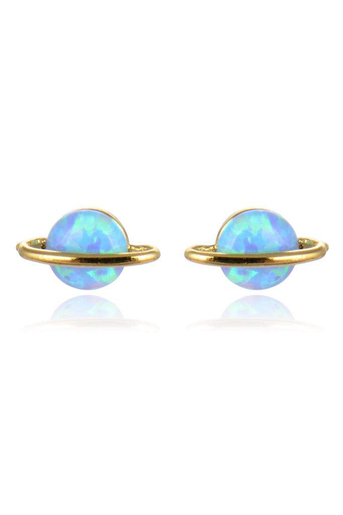 Opal Saturn Earrings