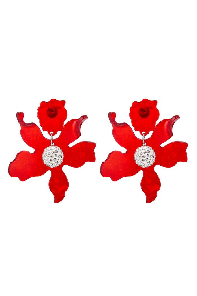 Lily Earrings - Red