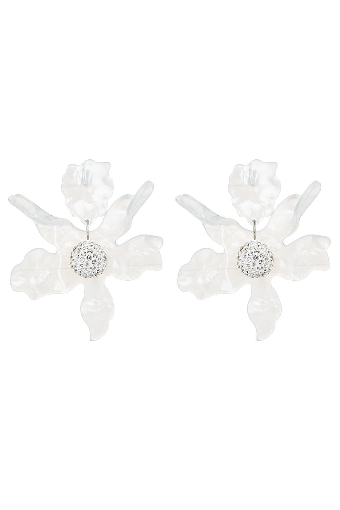 Lily Earrings - White