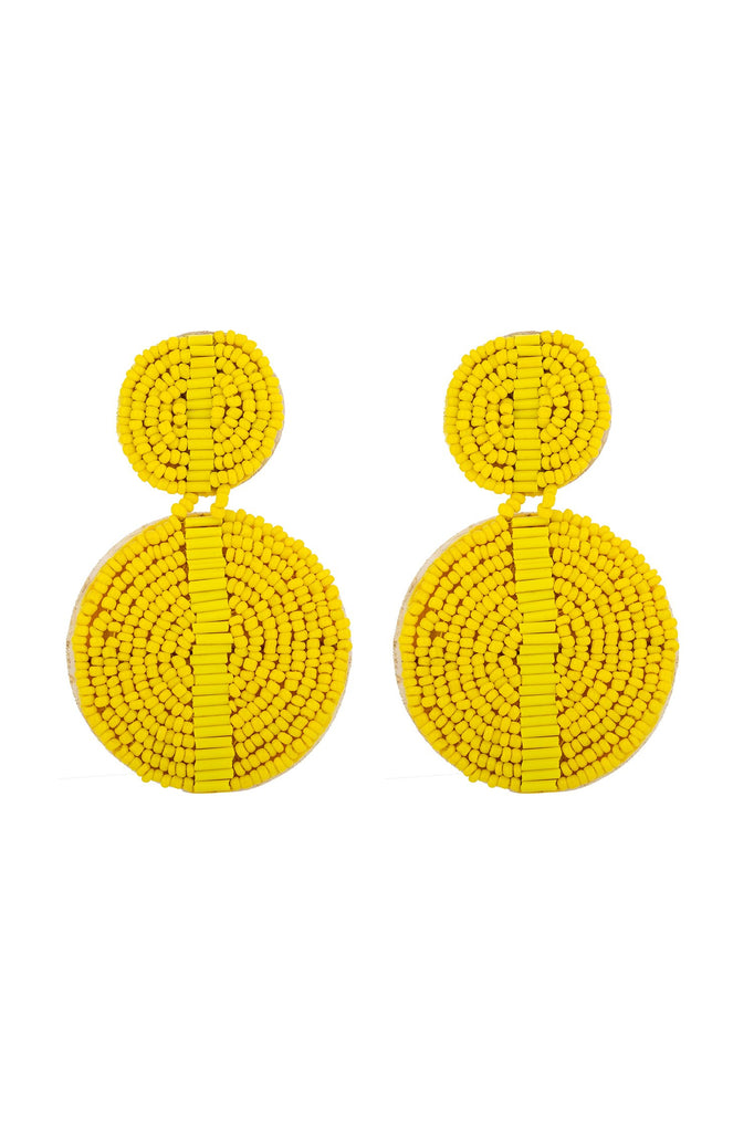 Luba Earrings - Yellow