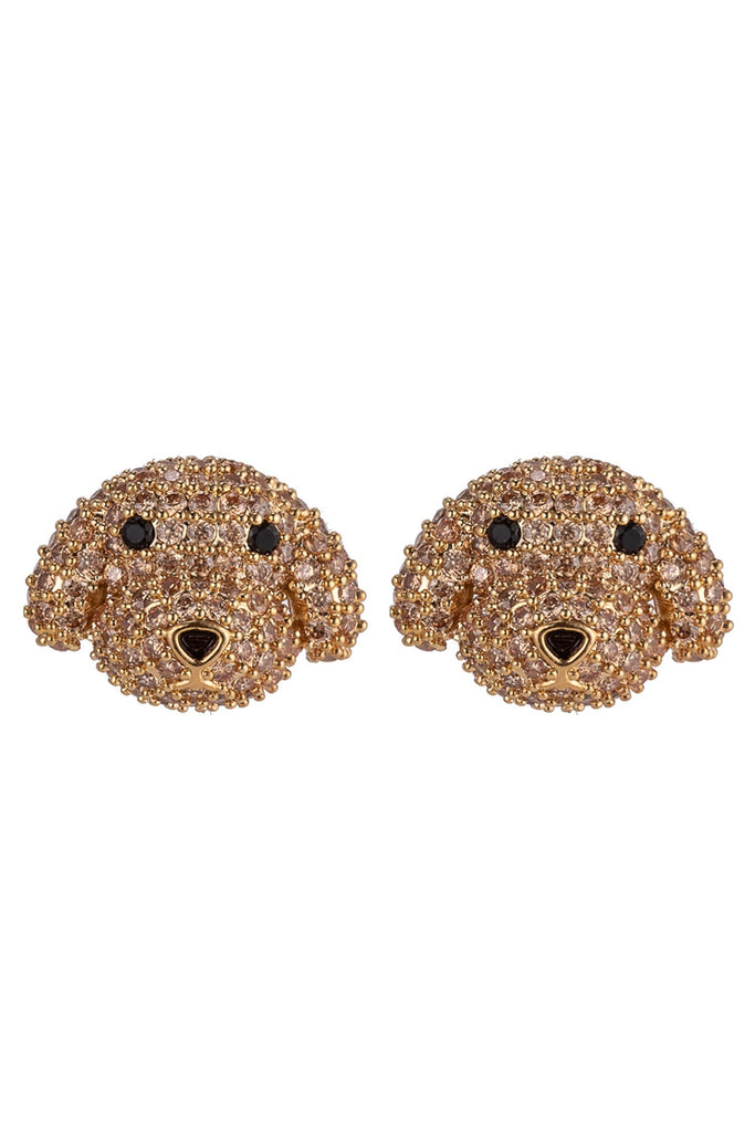 Golden Poodle Earrings