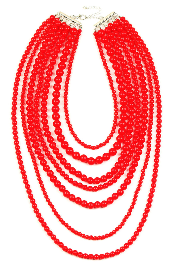 Aryna Necklace - Red