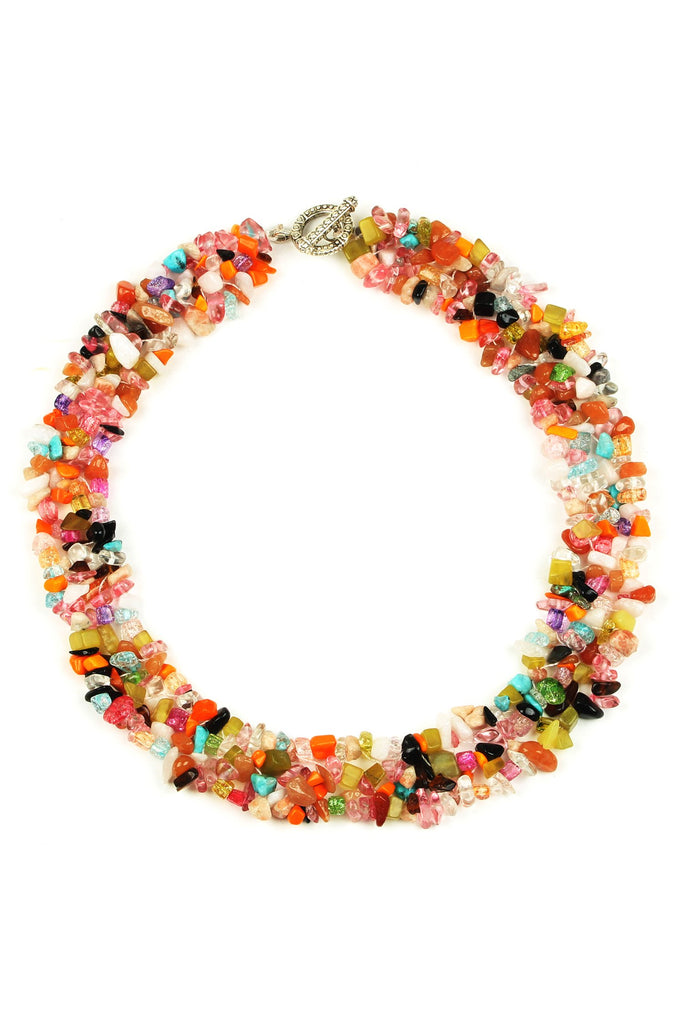 Remi Necklace - Multi Agate