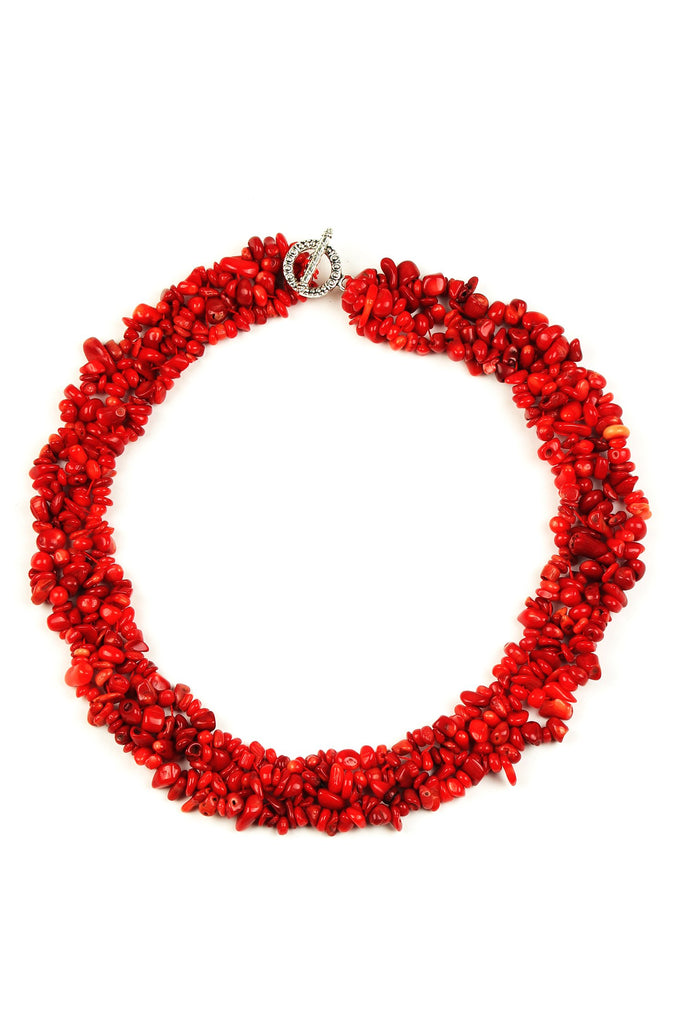Remi Necklace - Coral
