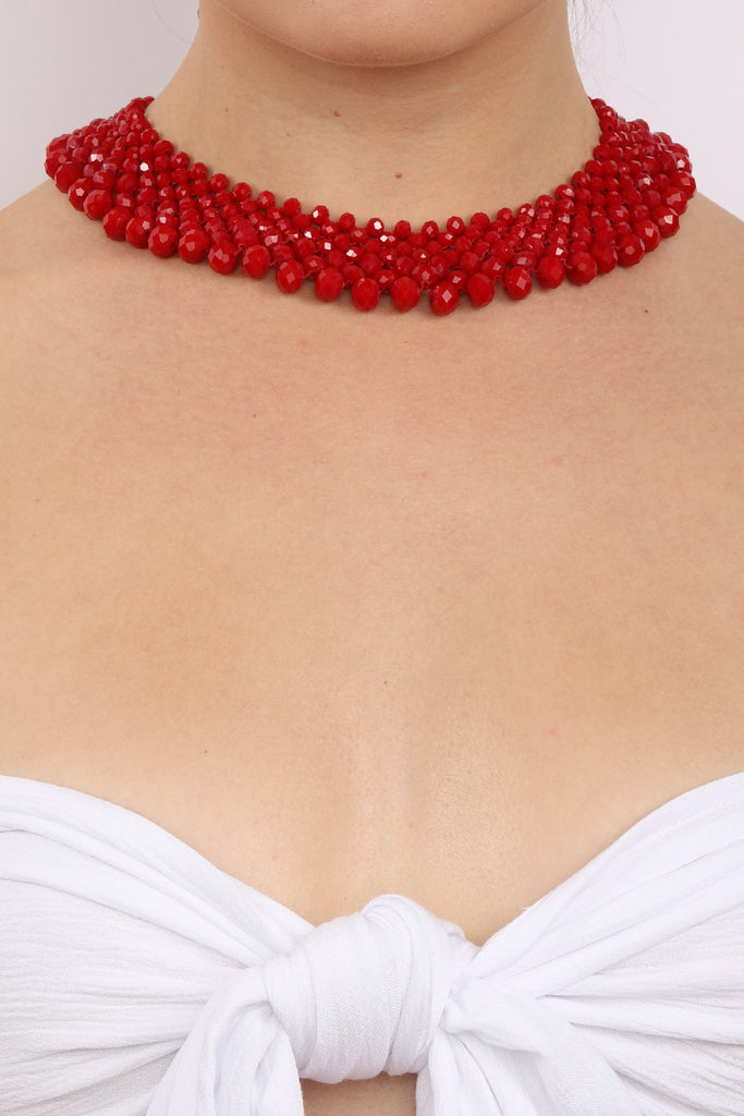 Anita Necklace - Red