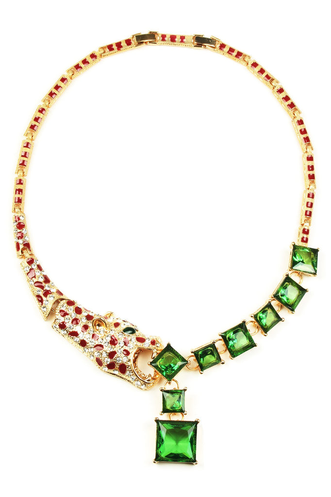 Lynx Necklace - Green