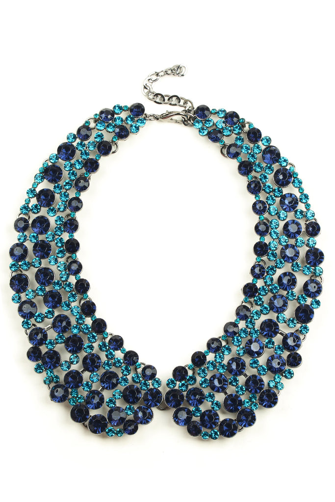 Diana Collar Necklace - Blue
