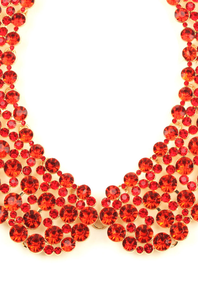 Diana Collar Necklace - Red